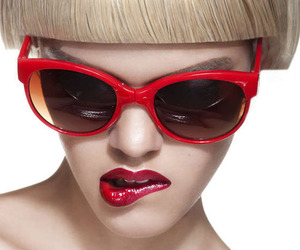 fashion, glasses, and red image