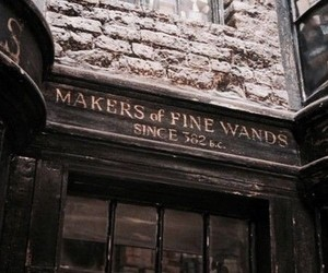 harry potter, wand, and ollivanders image