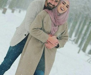 couple, muslim couple, and cute image