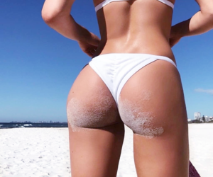 beach, booty, and summer image