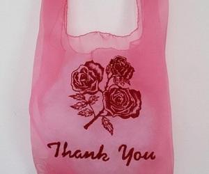 pink, rose, and bag image