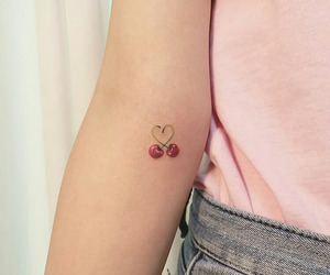 ink, love, and cherry image