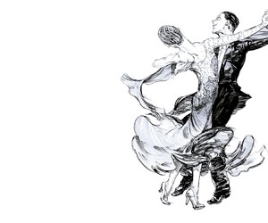 black&white, dance, and manga image