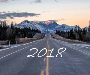mountain, new year, and road image