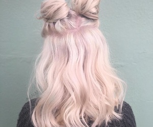 aesthetic, buns, and hairgoals image