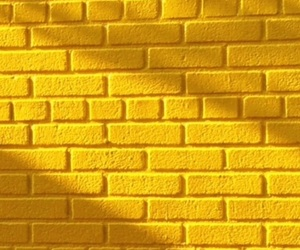 brick, wallpaper, and yellow image