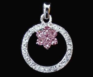 pink rhinestone, rhinestone pendant, and etsy image