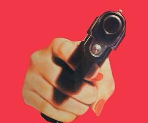 gun, red, and wallpaper image