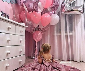 baby, pink, and fashion image