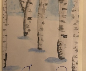 birch, diy, and drawing image