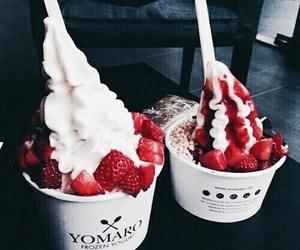 food, ice cream, and yogurt image