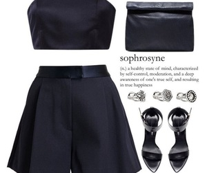 blue, Polyvore, and stylé image