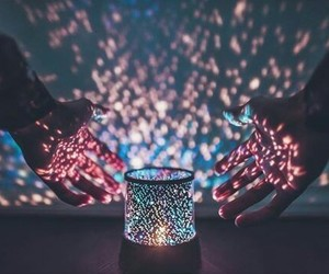 hands, lights, and pink image