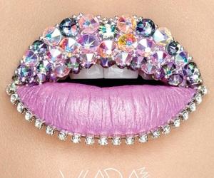 lips, diamond, and make up image
