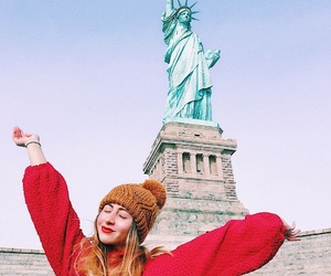 girl, happy, and liberty image