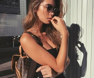 bag, brunette, and casual image