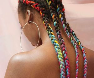 braids, hairstyle, and tumblr image