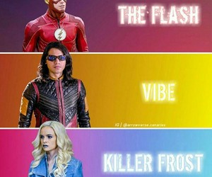 flash, barry allen, and killer frost image