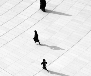 allah, black & white, and dine image