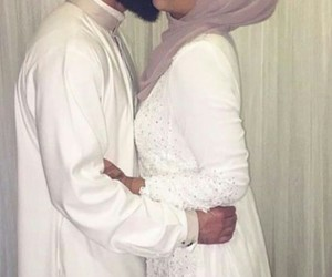 couple, muslim, and white image