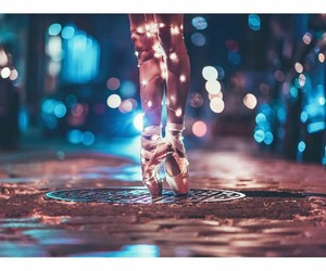 light, dance, and photography image
