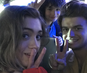 stranger things, finn wolfhard, and natalia dyer image