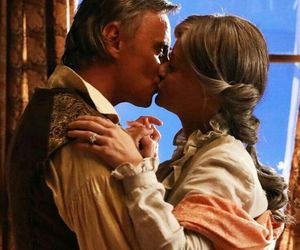 belle, once upon a time, and kiss image