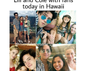 beach, couple, and fans image