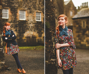 blazer, brogues, and floral image