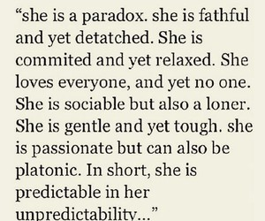 quotes, Paradox, and she image