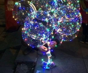 baloon, baloons, and light image
