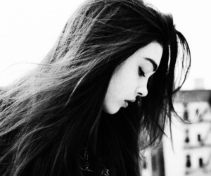 beautiful, black and white, and girls image