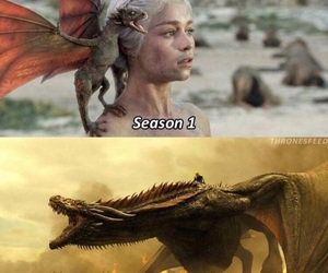 dragon, game of thrones, and fire image