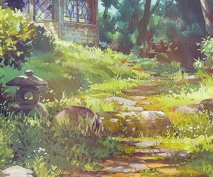 background, ghibli, and japon image