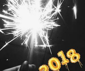 aesthetic, black, and new year image
