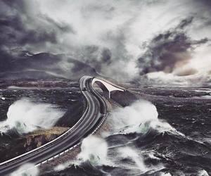 nature, norway, and atlantic ocean road image