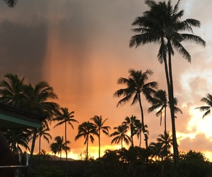 clouds, hawaii, and trees image