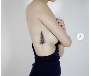black, forest, and tatoo image