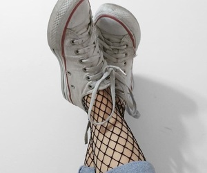converse, fishnets, and shoelaces image