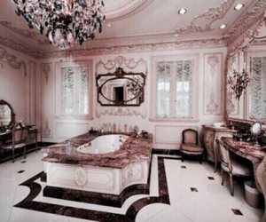 bathroom, rose gold, and interior image
