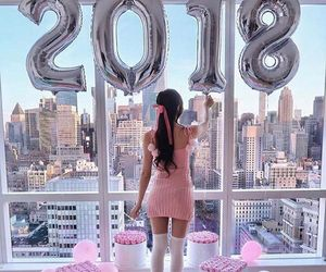 balloons, decor, and girl image
