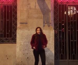 Barcelona, burgundy, and faux fur image