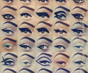 designs, eye, and eyeliner image