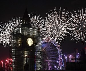 adventure, cities, and fireworks image