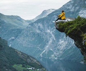 fjord, norway, and geiranger image