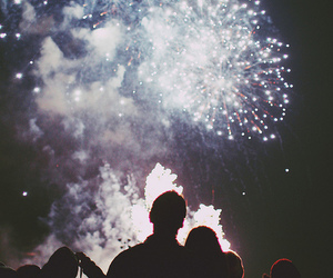 couple, firework, and photography image