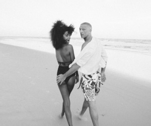 beach, couple, and Vincent Cassel image