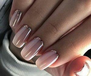 nail art, rose gold, and nails image