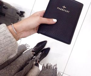 travel, fashion, and passport image
