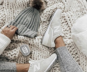 beanie, winter, and winter outfit image